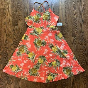 NWT Old Navy Printed Jersey Fit & Flare Cami Dress